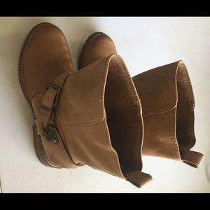 Gianni Bini Shoes - Gianni Bini Camel Leather Moto Boots